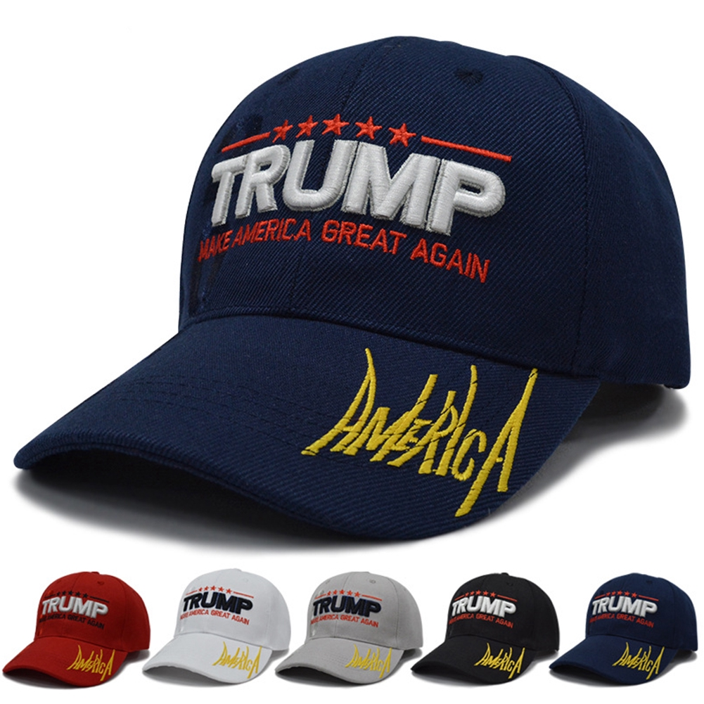Outdoor Fashion Canvas Breathable Adjustable Baseball Cap Letter Embroidery Unisex For Trump 2020
