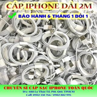 [Mã ELORDER5 giảm 10K đơn 20K] Cáp sạc iPhone cổng lightning dài 2m hỗ trợ sạc nhanh SIÊU BỀN