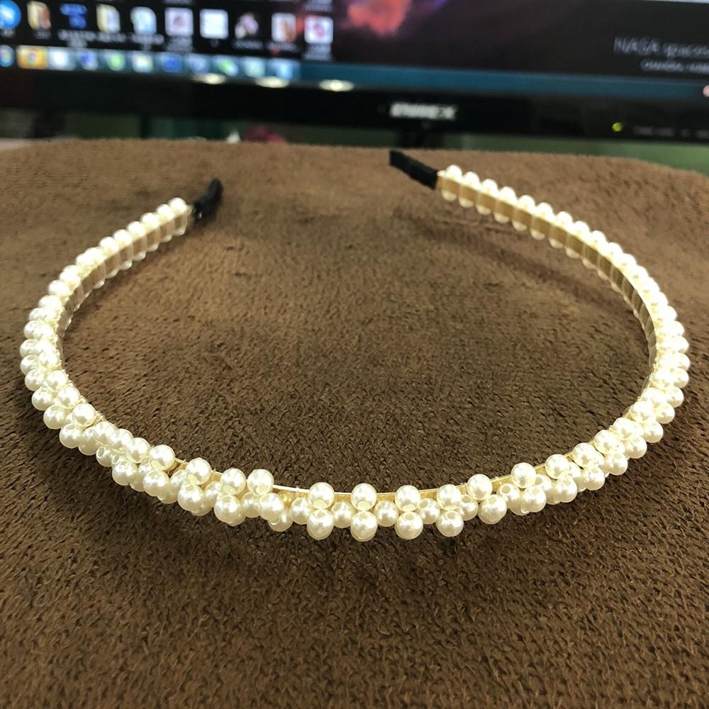 Bông tai/băng đô đính hạt kim cương phong cách Hàn Quốc