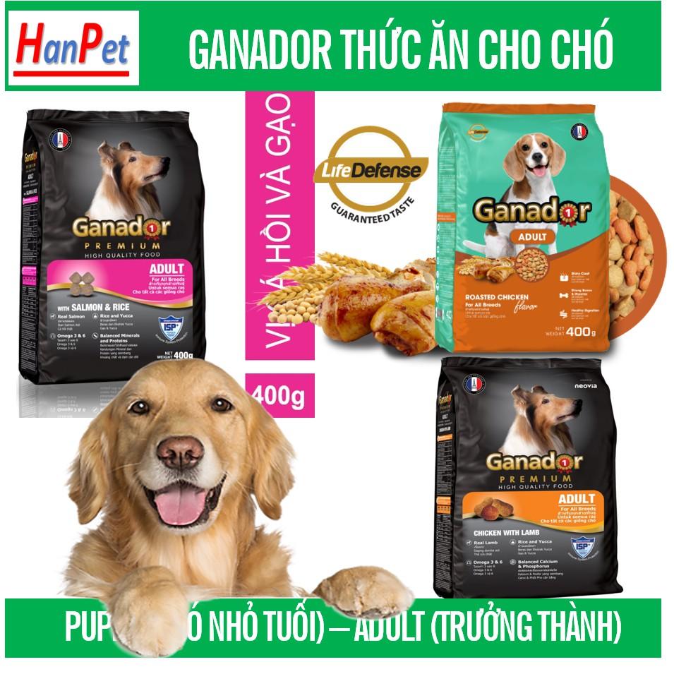 (5 loại) GANADOR cho chó Gói 400gr- Thức ăn dạng hạt cao cấp ( thức ăn chó mọi lứa tuổi )|3)Chó lớn cừu Gạo