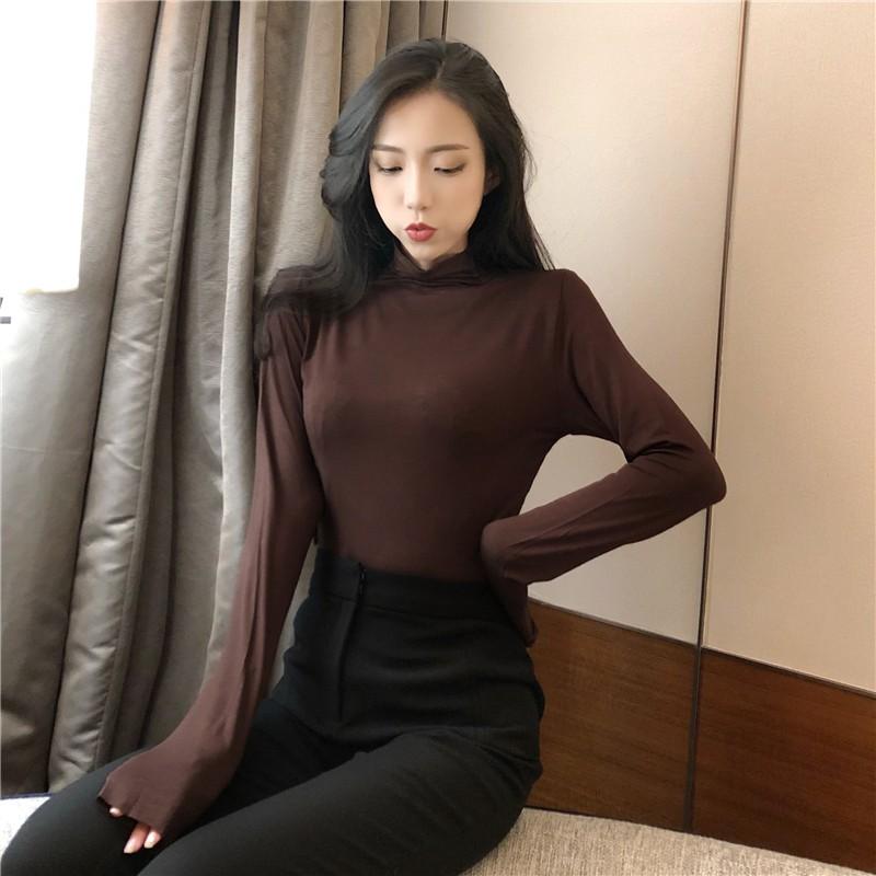 Áo thun nữ tay dài phong cách Hàn Quốc xinh xắn