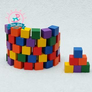 100 khối cube mầu size to| Đồ chơi an toàn