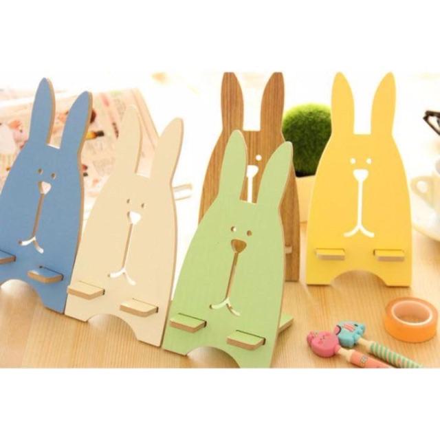Giá Đỡ điện thoại chất liệu gỗ hình chú thỏ cute