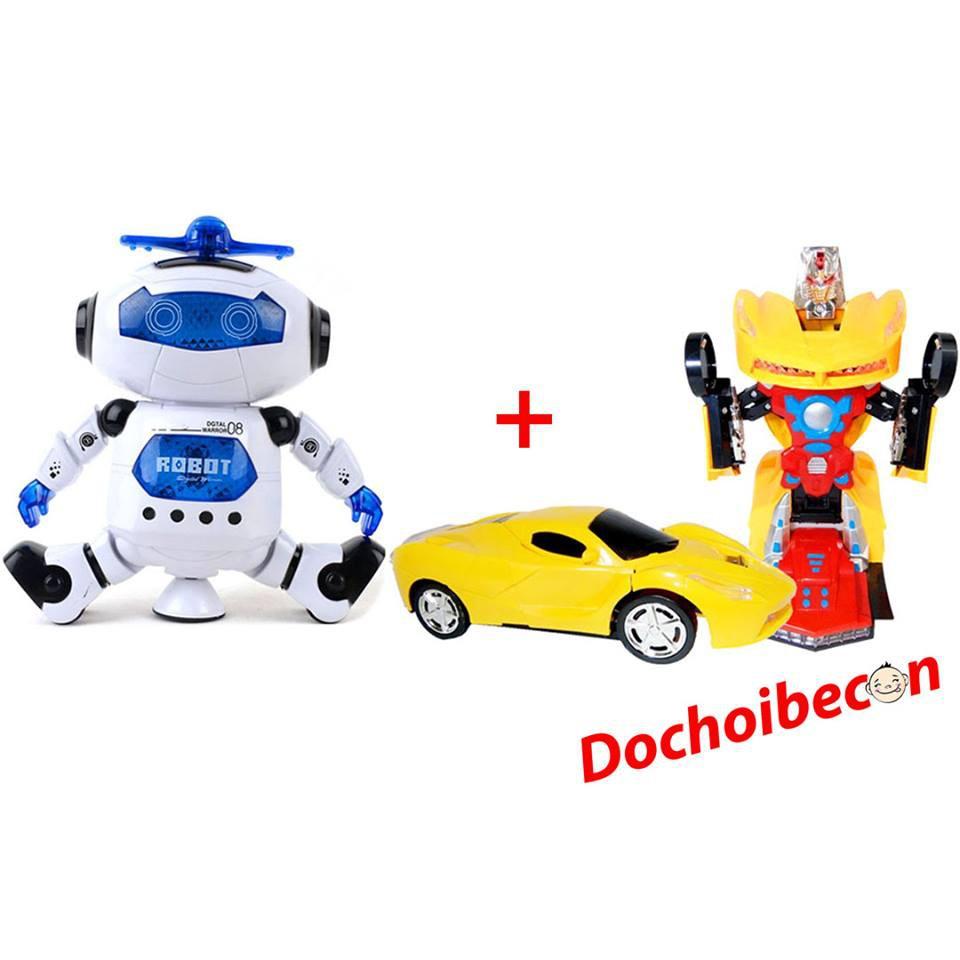 [Nhập TOY2107 Giảm 15%] - Combo Robot xoay 360 độ + Xe robot biến hình: Dùng pin, có đèn, nhạc - 2469142 , 1121391341 , 322_1121391341 , 260000 , Nhap-TOY2107-Giam-15Phan-Tram-Combo-Robot-xoay-360-do-Xe-robot-bien-hinh-Dung-pin-co-den-nhac-322_1121391341 , shopee.vn , [Nhập TOY2107 Giảm 15%] - Combo Robot xoay 360 độ + Xe robot biến hình: Dùng pin, c