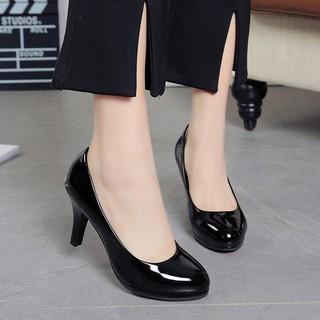 Giày cao gót nữ cao cấp mũi tròn 8 phân full size full box V146 thumbnail