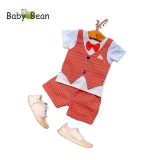 Set Gile Caro Kẻ Sọc Đính Nơ thời trang Năm Mới cho bé trai BabyBean thumbnail