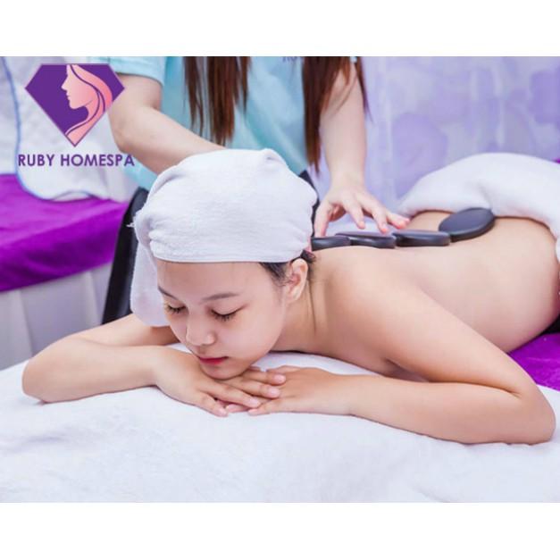 HCM [E-Voucher] - Combo Massage Body Tinh Dầu Đá Nóng Kết Hợp Chăm Sóc Da Mặt Tại Ruby Spa