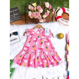 Váy lanh lụa (đầm tole) ⚜FREESHIP⚜ siêu mềm mát cho bé gái