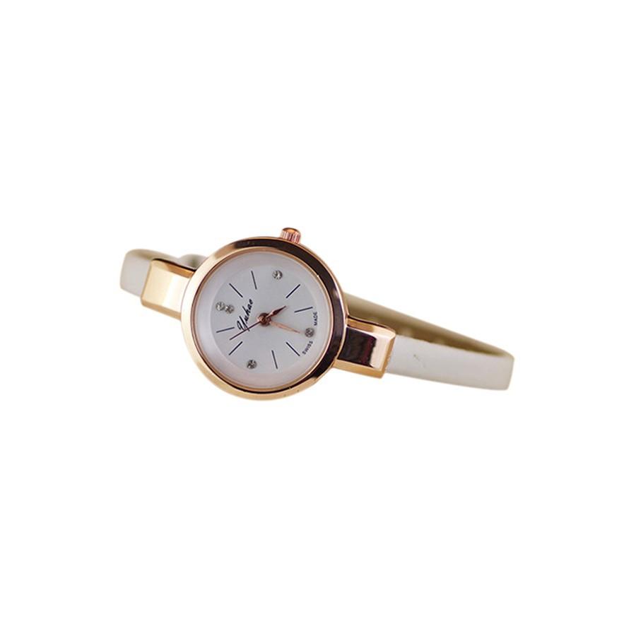Đồng hồ Quartz Analog dây giả da dành cho nữ