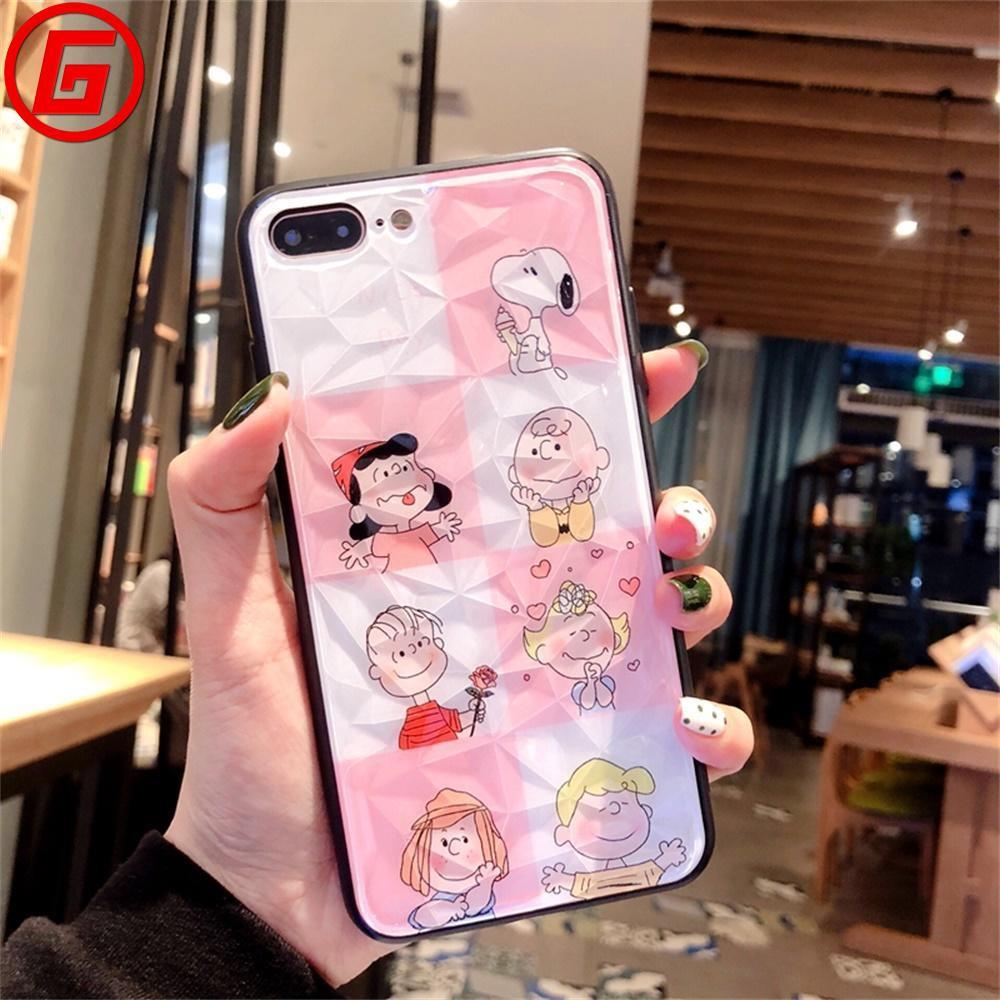 🍒 For Case Huawei Nova4/ Mate20 Pro/ Honor8X/ Mate20 Cartoon Couple Glass Hard Shell
