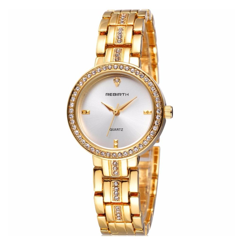 (GÍA CỰC SỐC)Đồng hồ nữ đính đá REBIRTH EU RE094 - Hàng chính hãng tặng kèm vòng đeo tay