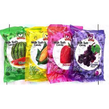 Kẹo dẻo Biskio Milk soft candy (vị dâu tây, nho, ngô, dưa hấu) 380g - 2424448 , 852140340 , 322_852140340 , 39000 , Keo-deo-Biskio-Milk-soft-candy-vi-dau-tay-nho-ngo-dua-hau-380g-322_852140340 , shopee.vn , Kẹo dẻo Biskio Milk soft candy (vị dâu tây, nho, ngô, dưa hấu) 380g