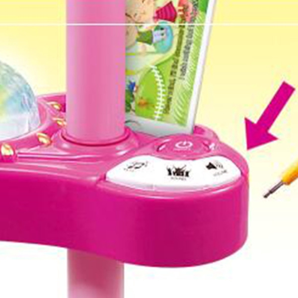 Kids Girls Microphone Mic Touch Karaoke Singing Machine Attachable with Phone Excellent Toy Gift