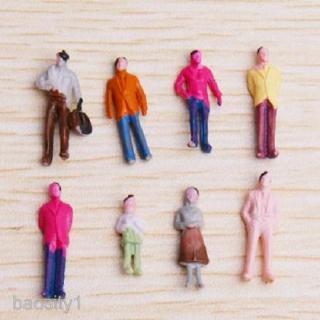 100pcs Painted Model Train People Figures Scale TT 1/100 Scale