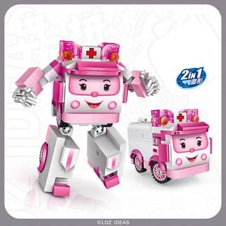 Đồ chơi lắp ghép xe ô tô Autobots Amba Loz Mini 2 hình thái lắp ghép