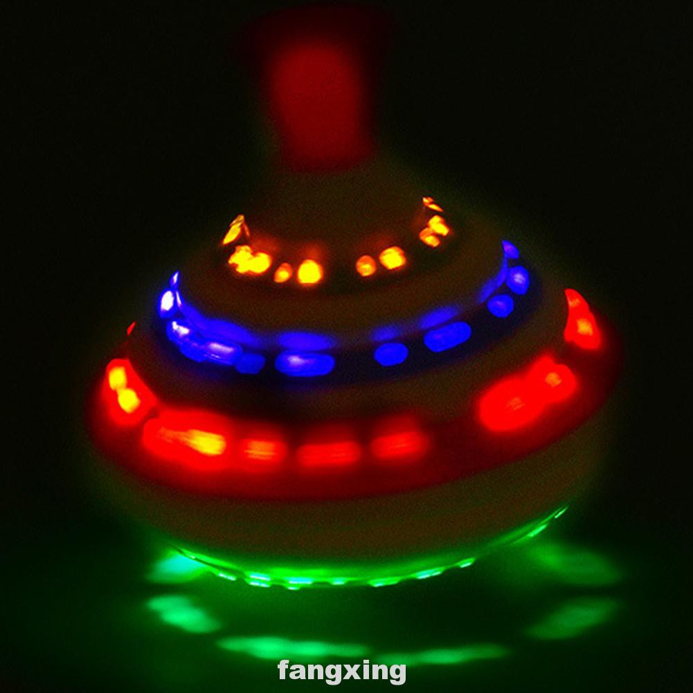 Birthday Gifts Boys Classic Electric Kids LED Flash Light Music Press Spinner Toy