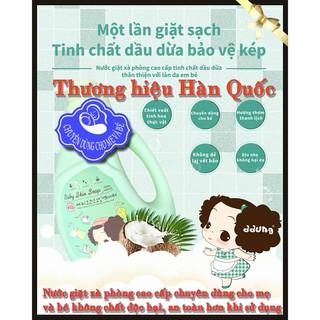 Lốc 2 Chai Nước giặt xà phòng mẹ và bé ddung Hàn Quốc, Không chứa chất phốt pho và huỳnh quang độc hại. thumbnail