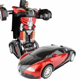 combo 5 ô tô biến hình thành robot có nhac và đèn
