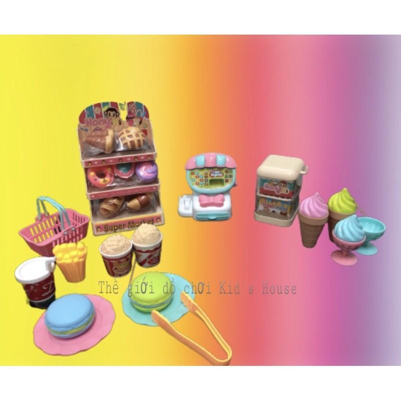 Bộ đồ chơi bán kem, siêu thị bán kem dành cho bé