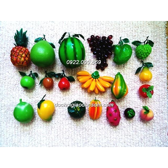 Bộ hoa quả nhựa to cho bé