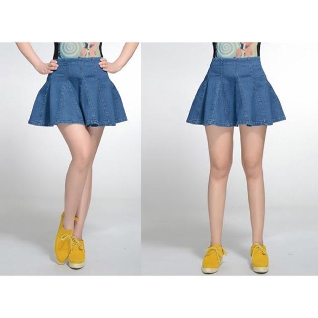Chân váy jean xoè cao cấp big size 8 mảnh 80-90kg