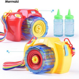 Camera Bubble Machine Music Automatic Bubble Blower for Kids Child Gift Toy