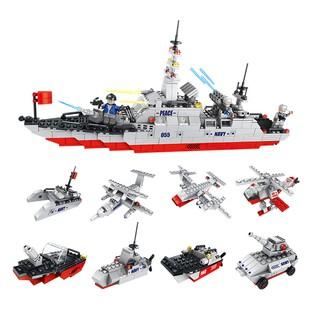 Hộp lẻ bộ lắp ráp Tàu khu trục 8 in 1 Lele Brother 8538