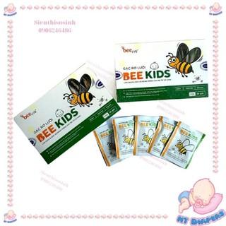 [Mã 77FMCGSALE1 giảm 10% đơn 250K] Gạc Rơ Lưỡi Bee Kids Làm Sạch và Bảo Vệ Răng Miệng Cho Bé Sơ Sinh thumbnail