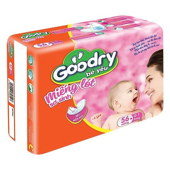 Miếng lót sơ sinh Goodry 56 miếng size newborn 1