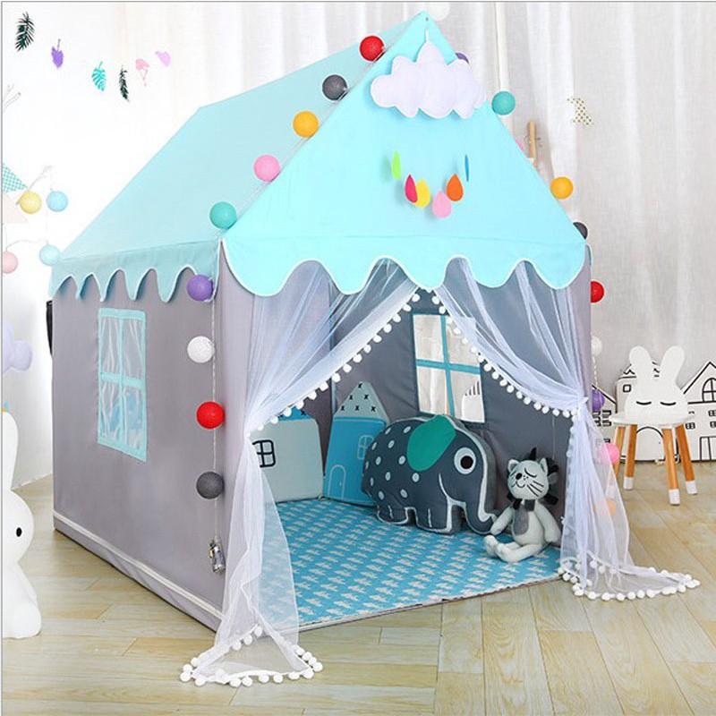 ✘♟▲Lều Cho Bé Ngủ Chơi Lều trẻ em Lều Hoàng tử Công Chúa Cho Bé Kích Cỡ Siêu To S5