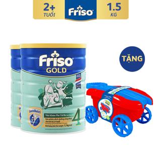 [Mã FMCGFEB21 giảm 8% đơn 250K] [Tặng Bộ Xe Kéo Cho Bé] Combo 2 Lon Sữa Bột Friso Gold 4 (1500G Lon) thumbnail