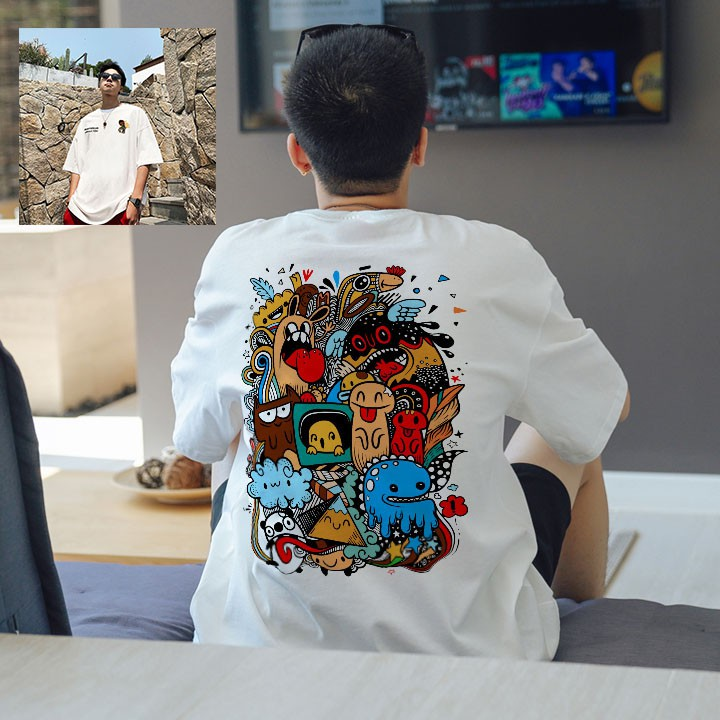 Giảm Giá Áo Thun 360 Form Rộng Tay Lỡ Unisex DDream Màu Sắc Siêu Đẹp áo phông unisex nam nữ trắng màu sắc streetwear