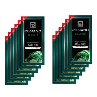 Dây 12 gói dầu gội Romano Classic 5g/gói