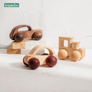 Đồ chơi trẻ em bằng gỗ Xe ô tô Mầm non Học tập Giáo dục Đồ chơi trẻ mới biết đi Hoàn hảo Sáng tạo Quà tặng sinh nhật Đồ chơi bằng gỗ không độc hại thumbnail