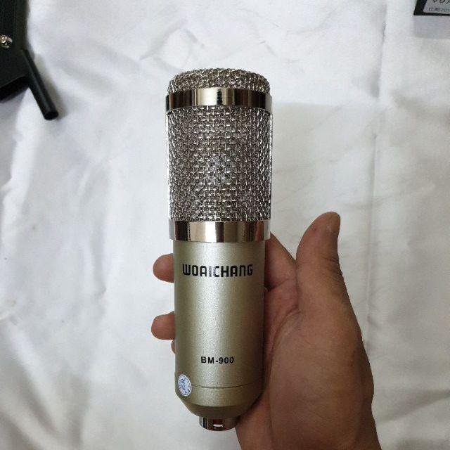 combo míc thu âm livestream hát karaoke livestream online micro BM900 card v10 bảo hành 6 tháng đổi mới