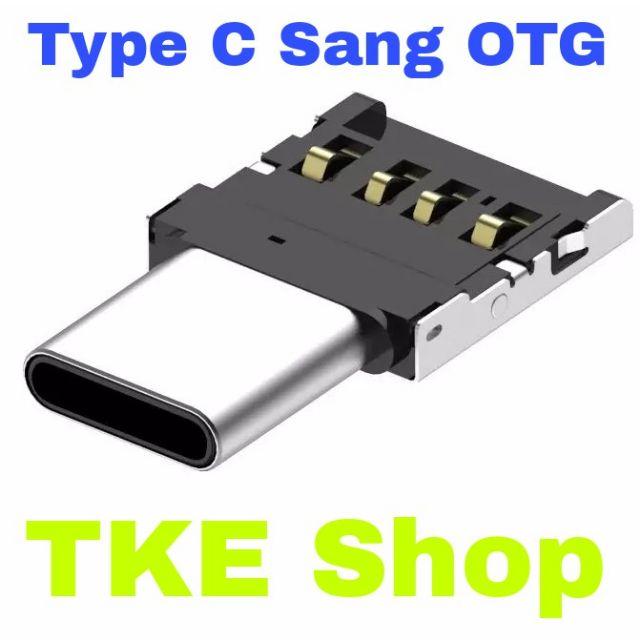 Đầu Chuyển USB Type C Sang OTG Siêu Tiện Lợi