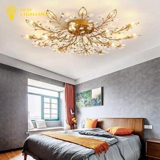 Đèn Chùm .Đèn Trang Trí Phòng Khách , đèn mâm hoa gold, bảo hành 12 tháng