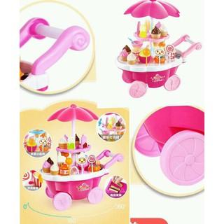 [HOT] bộ đồ chơi cho bé – xe đẩy kem có nhạc có đèn