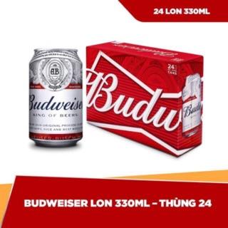 [ Chính Hãng ] Bia Budweiser Mỹ 330ml x24 lon