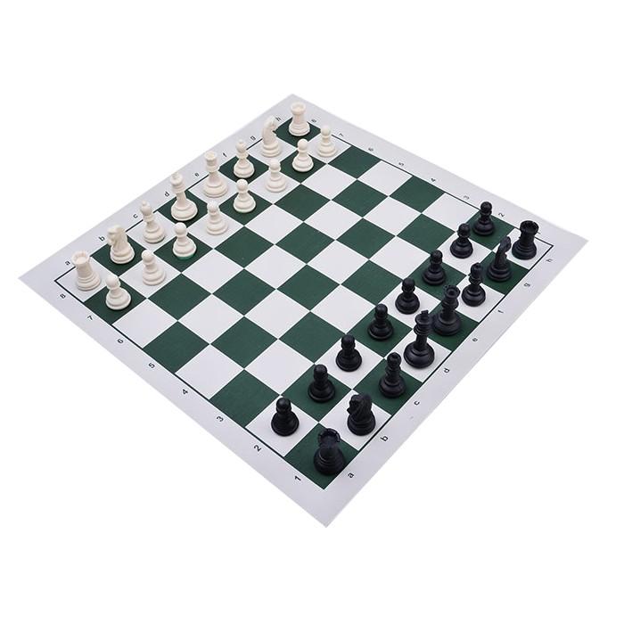 [Clip shop tự quay] Bộ Cờ Vua Chất Liệu Nhựa ABS Kích Thước Tiêu Chuẩn (kích thước thi đấu) Kèm bàn Vải Da