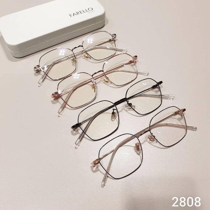 kính mắt hình chữ nhật kim loại thời trang 2808