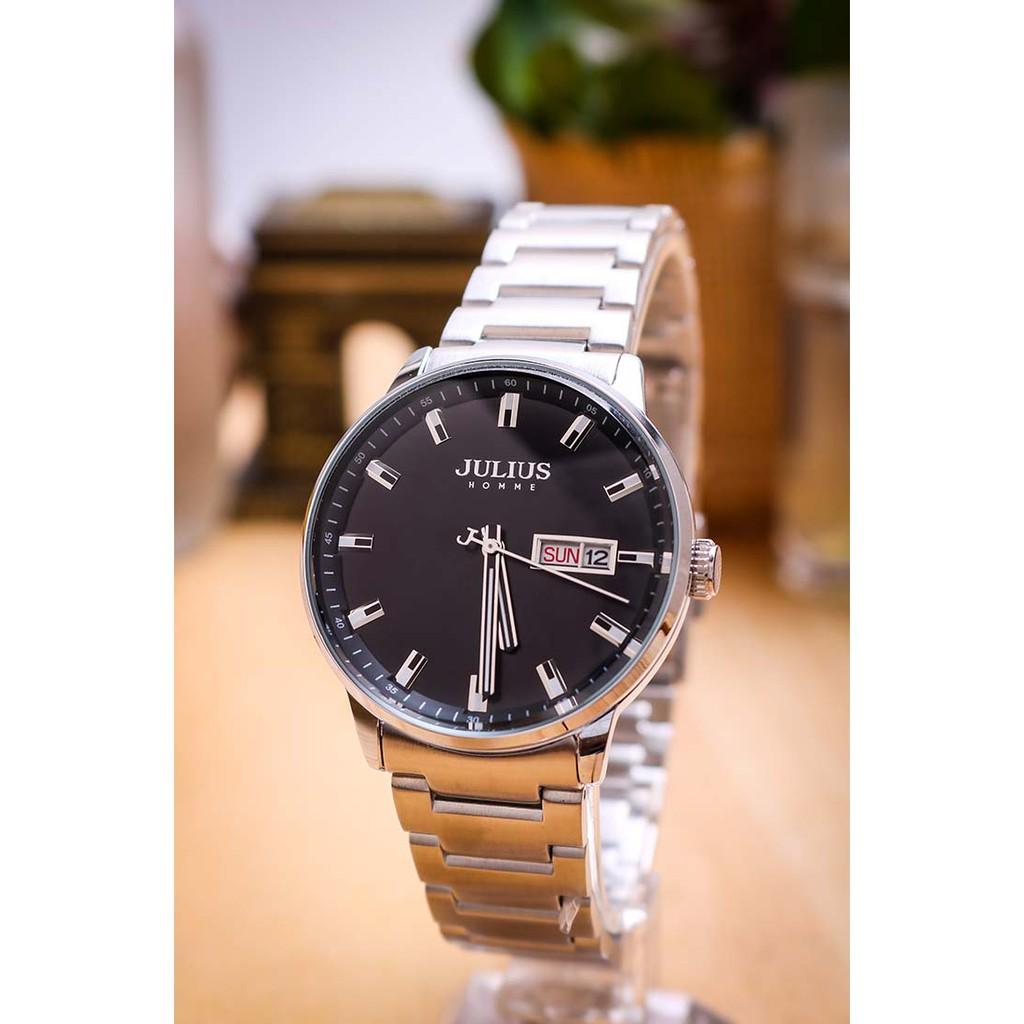 Đồng hồ nam Julius Hàn Quốc JAH-114 dây thép
