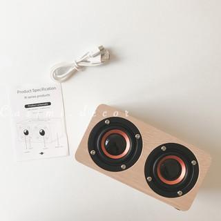 [FOLLOW US GIẢM 30K] Loa nghe nhạc mini speaker bằng bluetooth chất liệu giả gỗ nhỏ gọn dễ dàng di chuyển Casimi decor