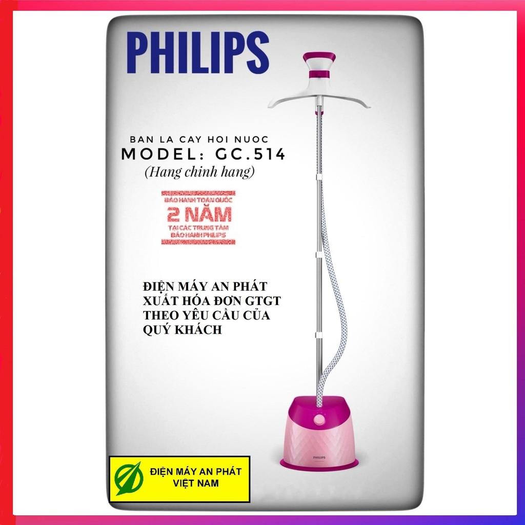 [Mã ELHAC500 hoàn tối đa 150K] Bàn là hơi nước đứng Philips GC514- Hàng Công ty (Bảo hành toàn quốc)