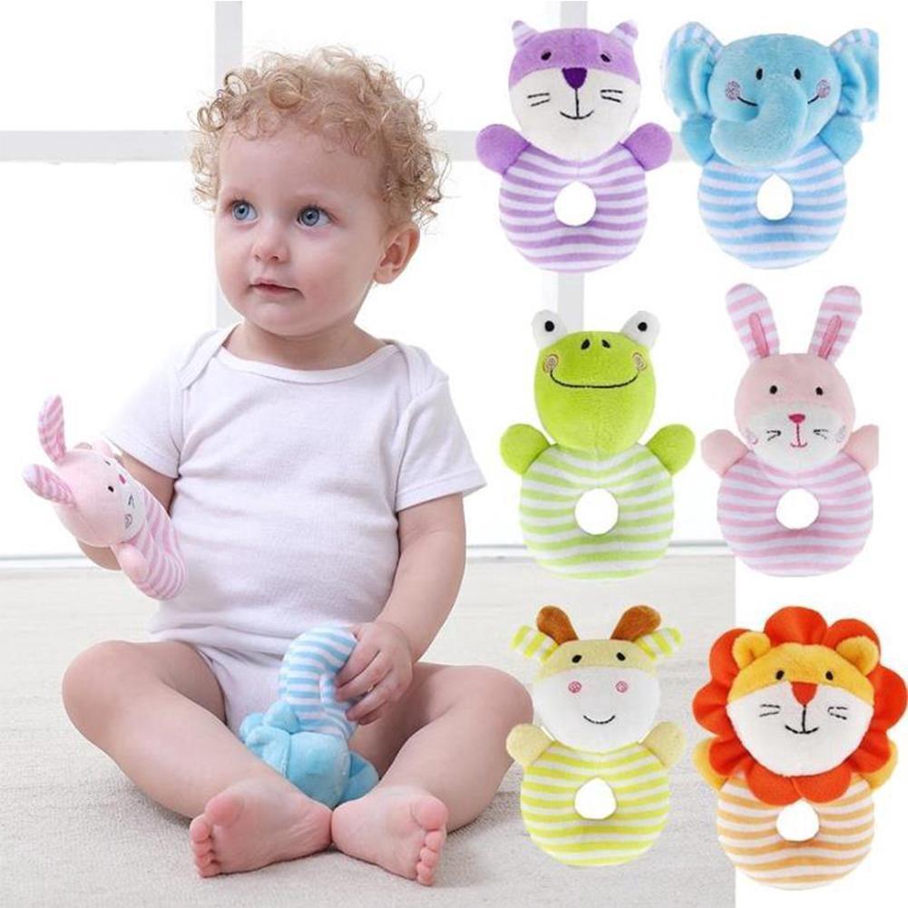 Baby Boys Girls Rattle Toys Newborn Animal Design Plush Musical Toy
