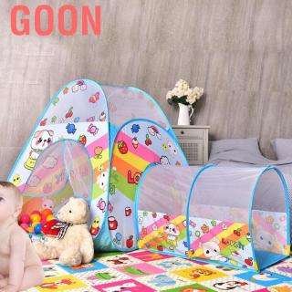 Goon Play Tent Kids Tents Children Baby Ball Pool House Toddler with Crawl Tunnel Indoor Game