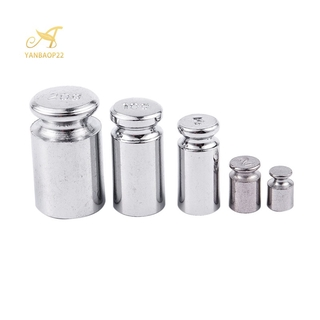 Weight 1g 2g 5g 10g 20g Chrome Plating Calibration Gram Scale Weight Set for Digital Scale Balance Siery white