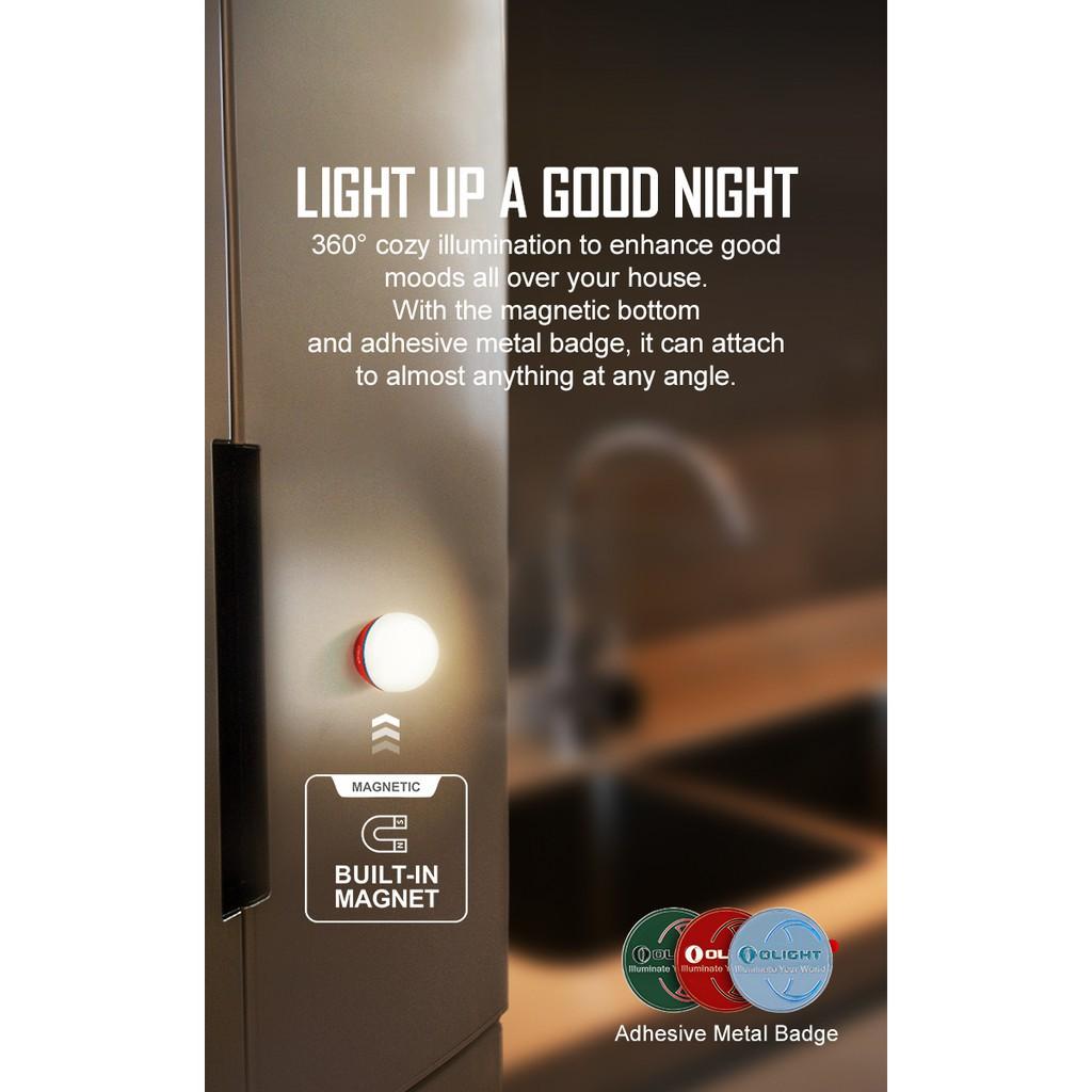 [ĐÈN PIN ĐÈN SẠC, ĐÈN PIN NHỎ GỌN] Olight OBULB - Đèn cắm trại độ sáng 55lm sử dụng tối đa lên đến 56h sạc pin nam châm