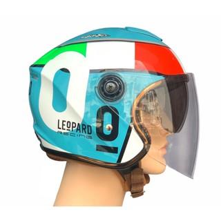 Nón Bảo Hiểm 3 4 Hai Kính Napoli N125 - Size (vòng đầu 53 - 60cm) Bảo Hành 12 Tháng thumbnail
