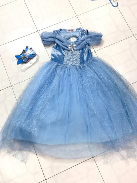 V777 Váy công chúa Lọ Lem Cinderella, có ảnh thật và clip, cho bé từ 15-35kg